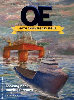 Offshore Engineer Magazine Cover Jan 2015 -
