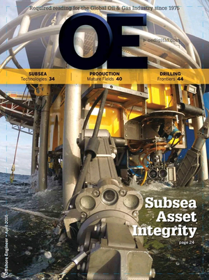 Offshore Engineer Magazine Cover Apr 2016 -