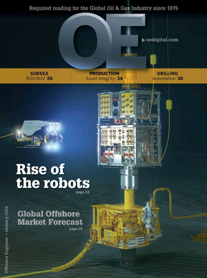 Offshore Engineer Magazine Cover Jan 2018 -