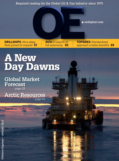 Cover of Jan/Feb 2013 issue of Offshore Engineer Magazine