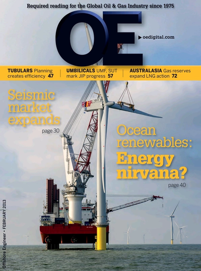 Cover of Feb/Mar 2013 issue of Offshore Engineer Magazine