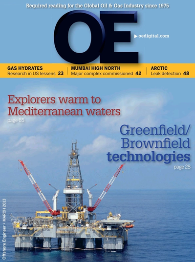 Cover of Mar/Apr 2013 issue of Offshore Engineer Magazine