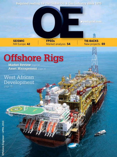Cover of Apr/May 2013 issue of Offshore Engineer Magazine