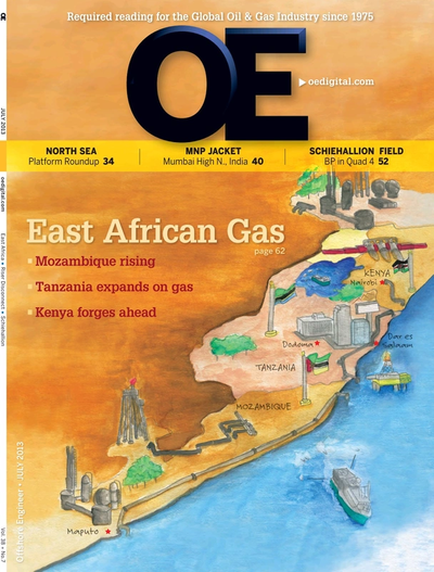 Cover of Jul/Aug 2013 issue of Offshore Engineer Magazine