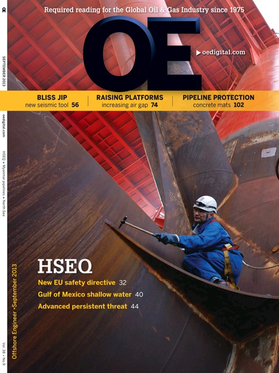 Cover of Sep/Oct 2013 issue of Offshore Engineer Magazine