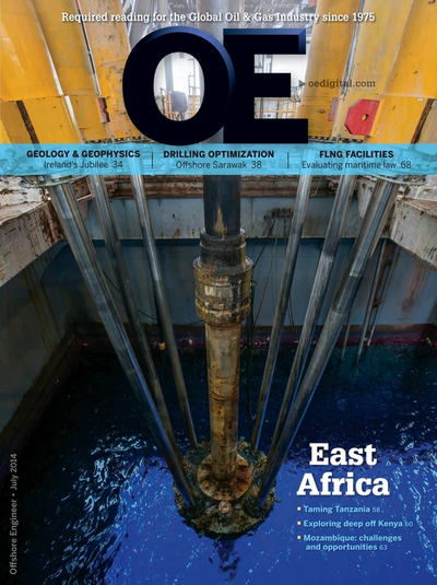 Cover of Jul/Aug 2014 issue of Offshore Engineer Magazine