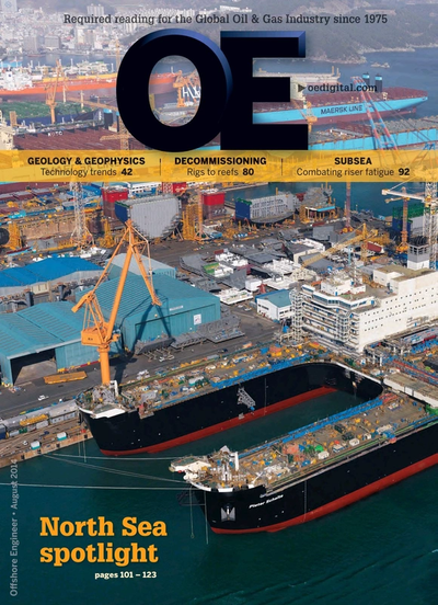 Cover of Aug/Sep 2014 issue of Offshore Engineer Magazine