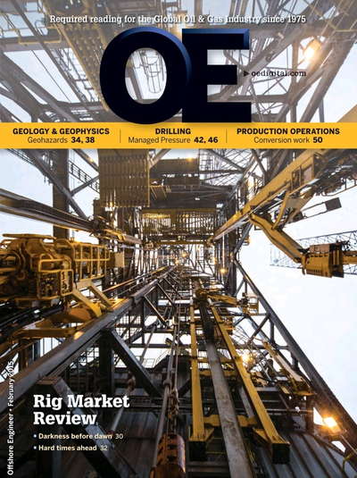 Cover of Feb/Mar 2015 issue of Offshore Engineer Magazine