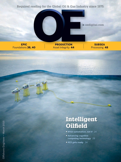 Cover of Mar/Apr 2015 issue of Offshore Engineer Magazine