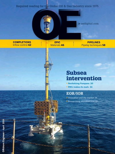 Cover of Apr/May 2015 issue of Offshore Engineer Magazine