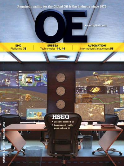 Cover of Nov/Dec 2015 issue of Offshore Engineer Magazine