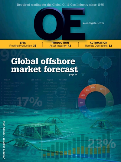 Cover of Jan/Feb 2016 issue of Offshore Engineer Magazine