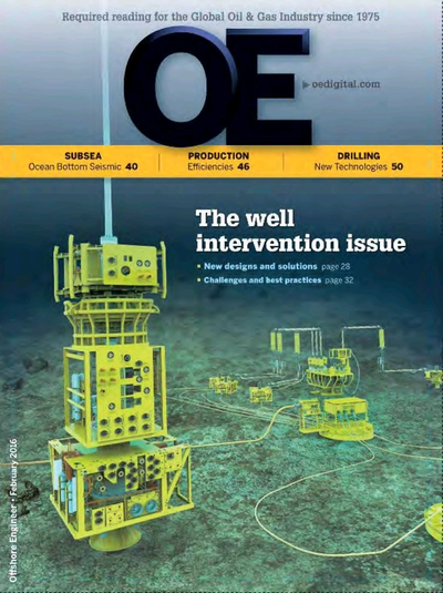 Cover of Feb/Mar 2016 issue of Offshore Engineer Magazine