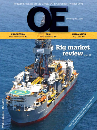 Cover of Mar/Apr 2016 issue of Offshore Engineer Magazine
