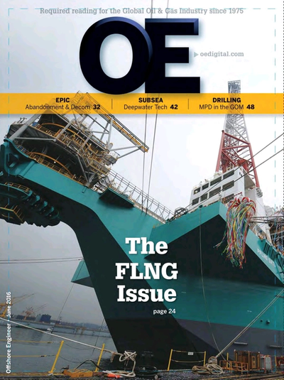 Cover of Jun/Jul 2016 issue of Offshore Engineer Magazine