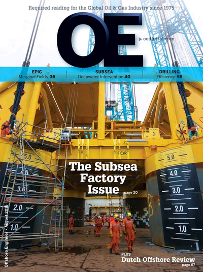 Cover of Aug/Sep 2016 issue of Offshore Engineer Magazine