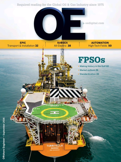 Cover of Sep/Oct 2016 issue of Offshore Engineer Magazine