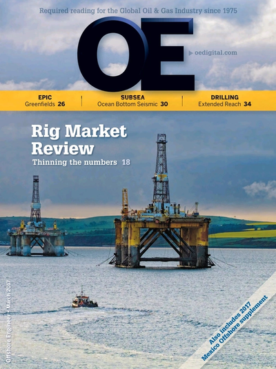 Cover of Mar/Apr 2017 issue of Offshore Engineer Magazine