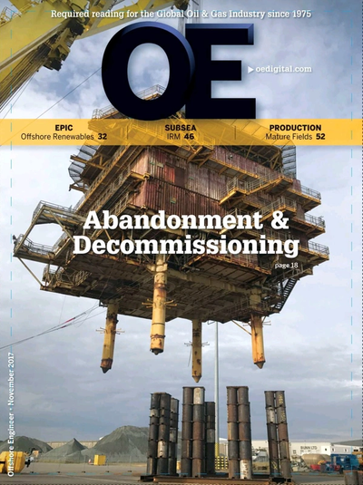 Cover of Nov/Dec 2017 issue of Offshore Engineer Magazine