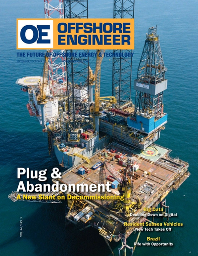 Cover of Sep/Oct 2019 issue of Offshore Engineer Magazine