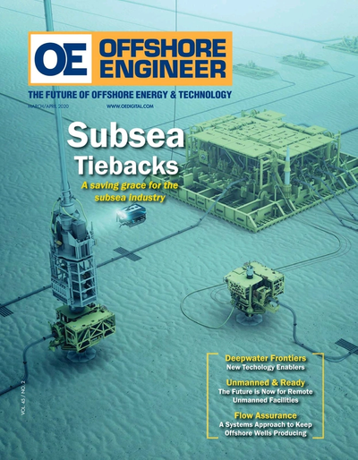 Cover of Mar/Apr 2020 issue of Offshore Engineer Magazine
