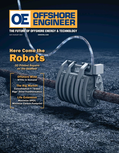 Cover of Jul/Aug 2021 issue of Offshore Engineer Magazine