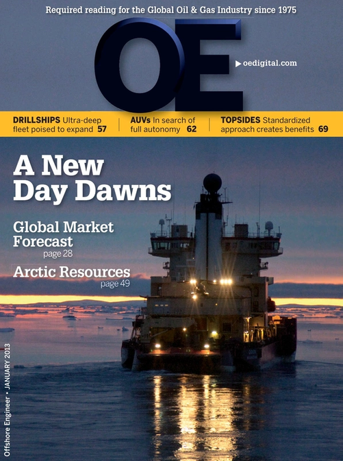 Offshore Engineer Magazine Cover Jan 2013 -