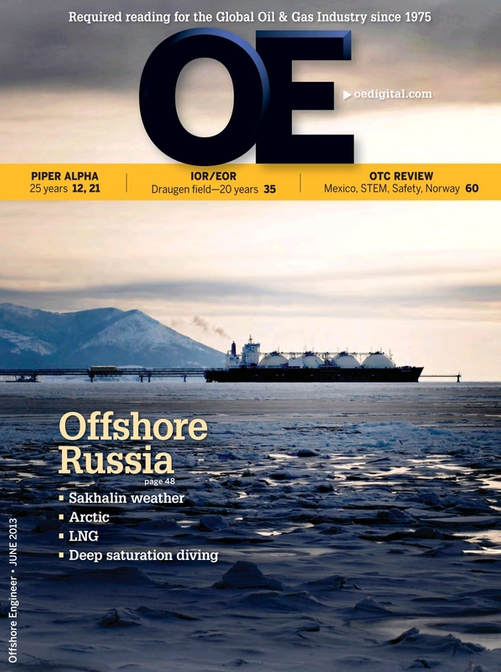 Offshore Engineer Magazine Cover Jun 2013 -