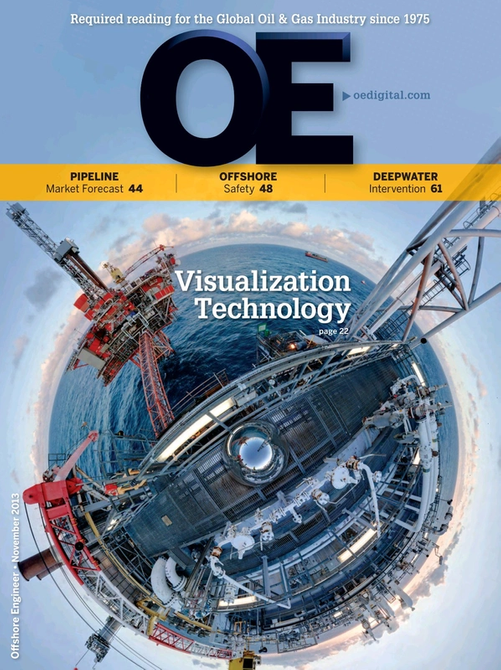 Offshore Engineer Magazine Cover Nov 2013 -