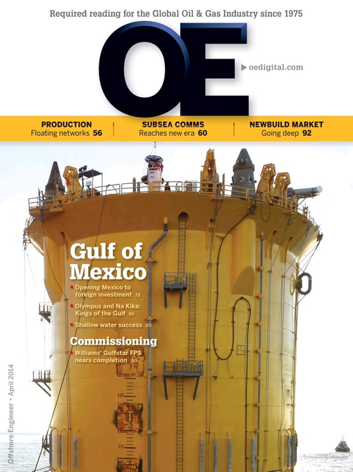 Offshore Engineer Magazine Cover Apr 2014 -