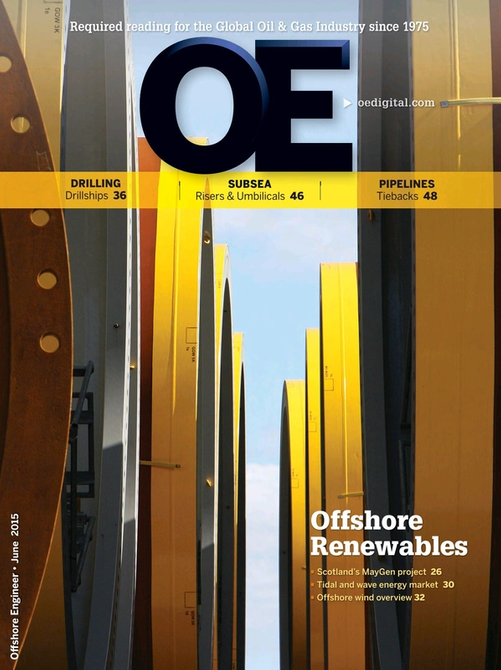 Offshore Engineer Magazine Cover Jun 2015 -