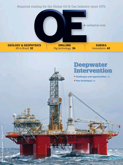 Offshore Engineer Magazine Cover Aug 2015 -
