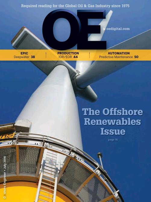 Offshore Engineer Magazine Cover Jul 2016 -