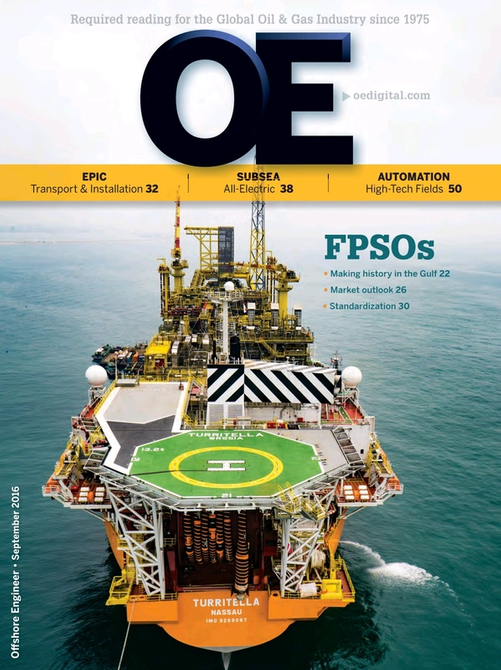Offshore Engineer Magazine Cover Sep 2016 -