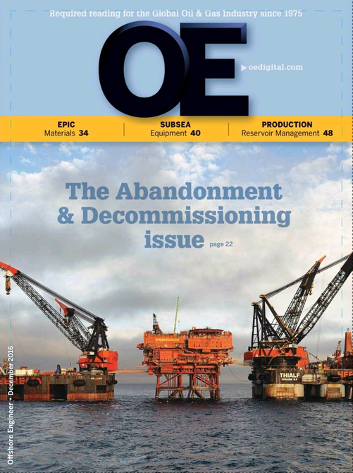 Offshore Engineer Magazine Cover Dec 2016 -