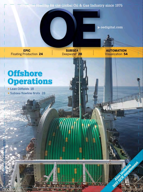 Offshore Engineer Magazine Cover Feb 2017 -