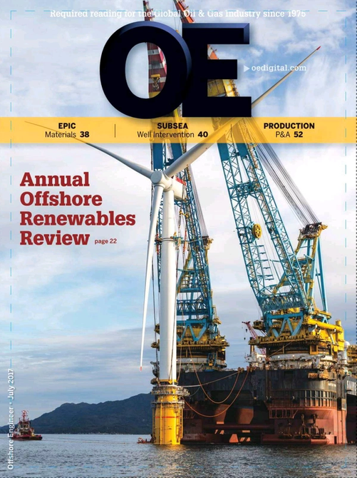 Offshore Engineer Magazine Cover Jul 2017 -