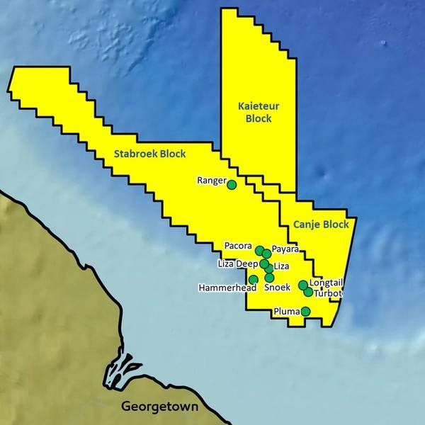 Προηγούμενα ευρήματα στο μπλοκ Stabroek (Εικόνα: ExxonMobil)