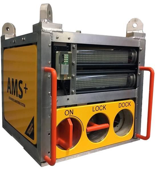 Модем Hydromea LUMA использовался для передачи данных из системы Ams + компании Ashtead. Фотография от Hydromea.