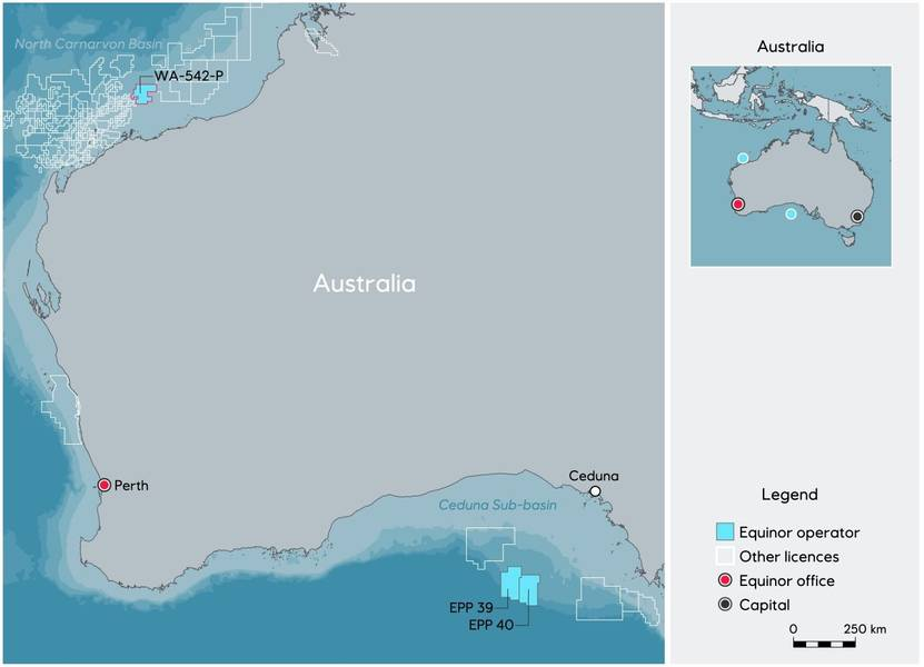 الخريطة: Equinor
