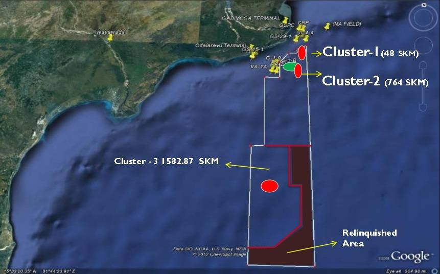 خريطة موقع كتلة KG-DWN-98/2 (الصورة: المملكة المتحدة دائرة التجارة الدولية)