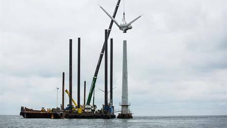 全球首个海上风力发电场Vindeby于2016年被DONG Energy(现为Orsted)退役。(照片:Orsted)