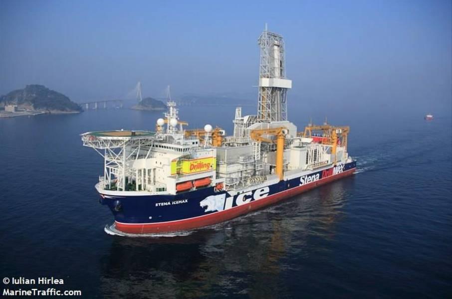 Apenas para ilustração; Navio de perfuração Stena IceMax - Imagem por Iulian Hirlea - MarineTraffic