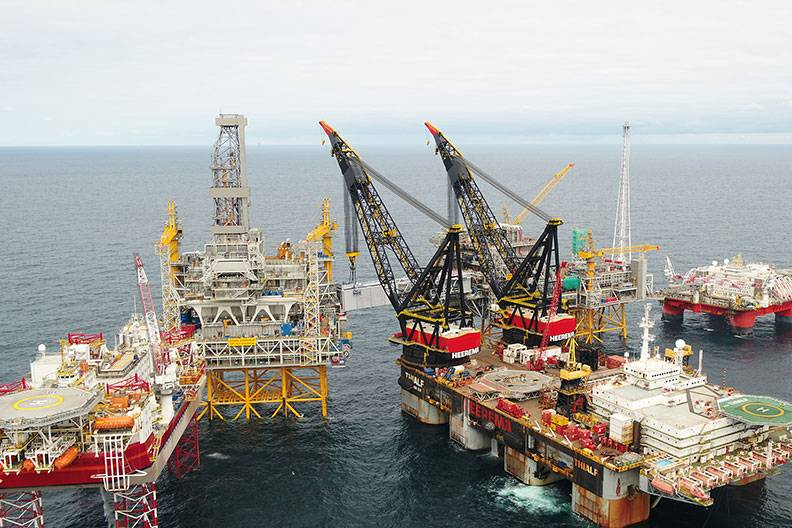 Colussus:北海におけるJohan Sverdrup油田開発(写真:Lundin Petroleum)