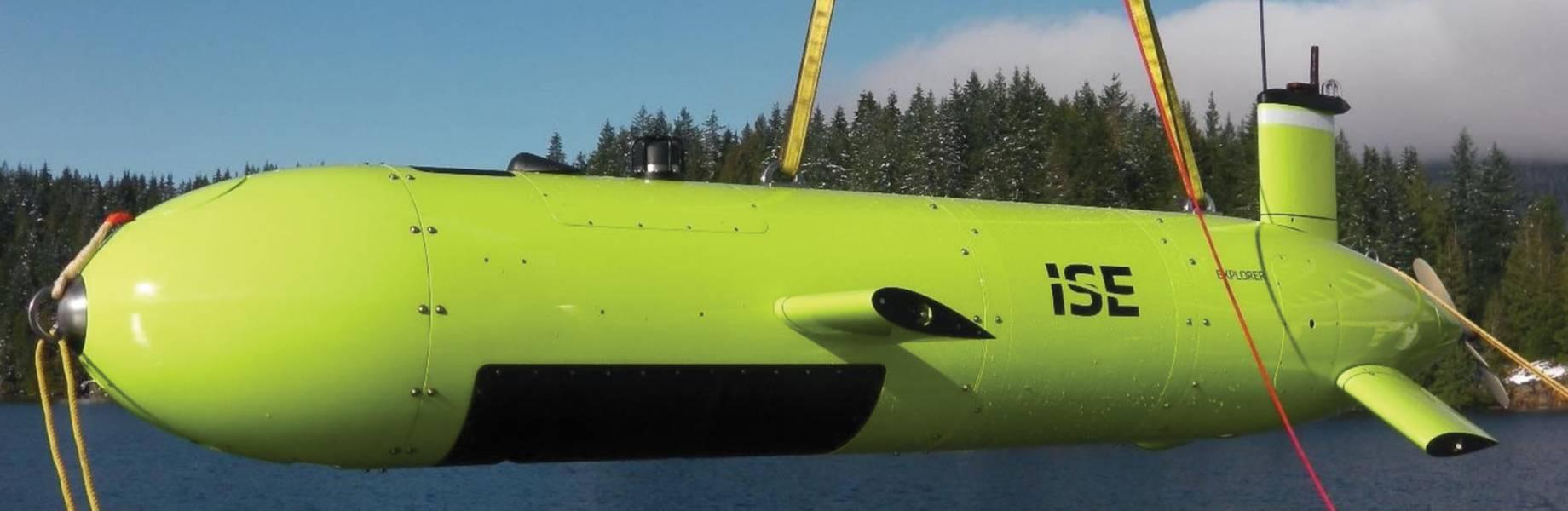 Nutzlastflexibel: ISE Explorer 6000-Klasse und ISE 3000 R & D AUVs. Bildnachweis: International Submarine Engineering