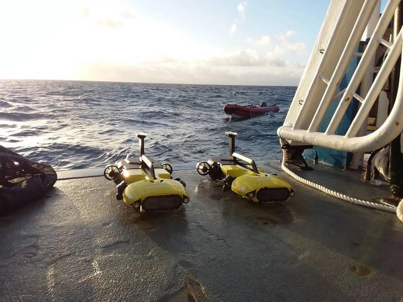 RangerBot sobre un arrecife (Crédito Matthew Dunbabin / QUT)