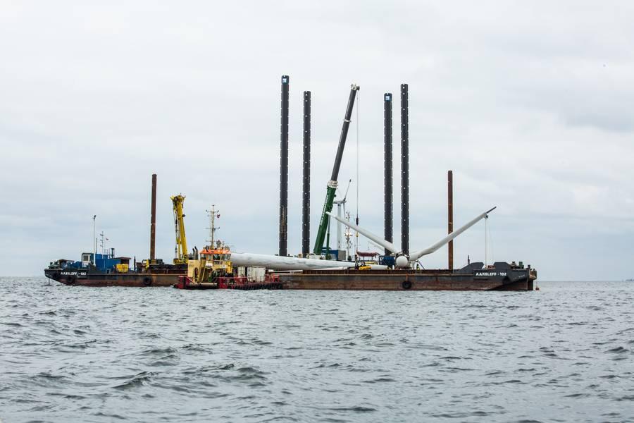 Vindeby, первая в мире морская ветряная электростанция, была выведена из эксплуатации компанией DONG Energy, теперь Орстед, в 2016 году. (Фото: Орстед)