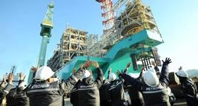 PFLNG Dua sailaway ceremony -  Image by Petronas