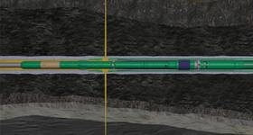 With a sleeve installed in the completion that can be opened and closed down in the well, it is now possible to fracture several zones with only on trip into the well. (Image: Aker BP)