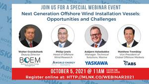 Webinar: Next Generation Offshore Wind Installation Vessels – Opportunities and Challenges